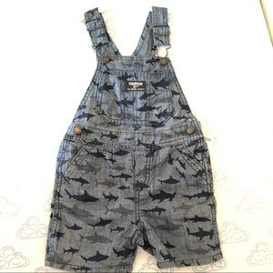 OshKosh B'Gosh Shark Denim Overalls